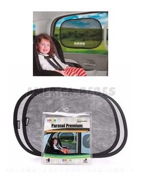 Parasol Premium plegable para auto con sistema de adhesión por estática,sin adhesivos ni sopapas. Baby Innovation.