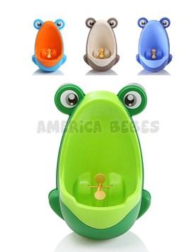 Urinal Mingitorio para nenes,desmontable y doble opción de uso: colgado en la pared o parado en el piso. Con sopapas. Colores surtidos. Baby Innovation.