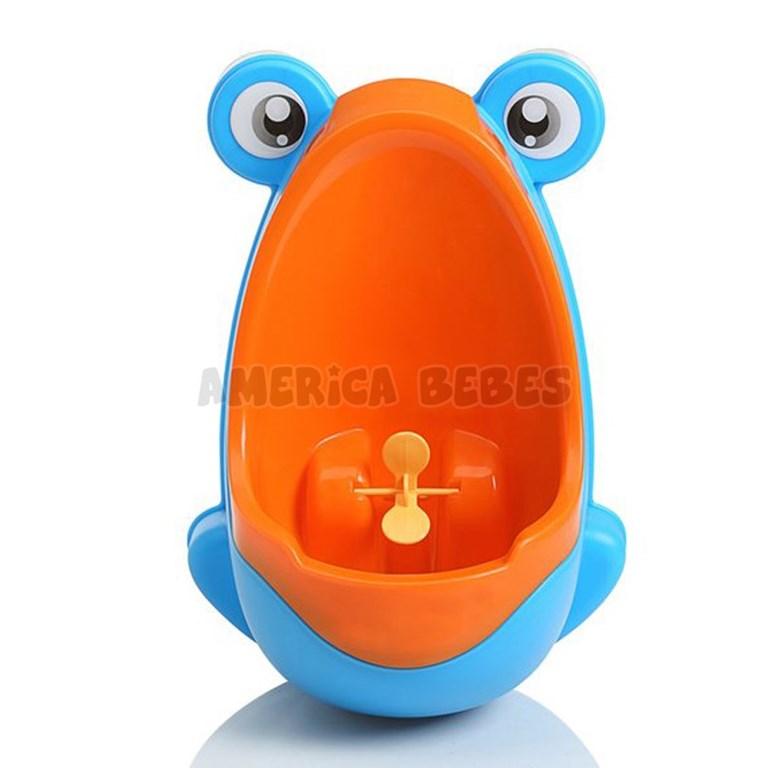 Urinal Mingitorio  para nenes,  desmontable y doble opción de uso: colgado en la pared o parado en el piso. Con sopapas. Colores surtidos. Baby Innovation.