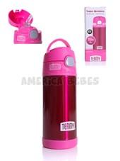 Vaso térmico. Color ROSA. Capacidad 355 ml. Mantiene el frío hasta 12 hs. Baby Innovation.
