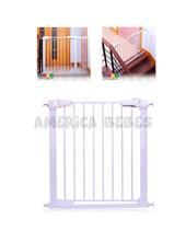 Puerta de Seguridad Premium para bebés con apertura para adultos hacia ambos lados. Ancho ajustable: 76 a 83cm. Baby Innovation.