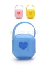 Cajita Porta-Chupete x1. Mantiene limpio el chupete . Ideal para transportar. Colores surtidos. Baby Innovation.