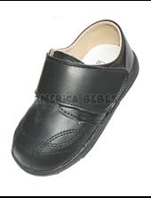 A850  Zapato nene c/abrojo. Negro. Pepes bebes.