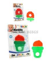 Mordillo Frambuesa- Helado. +3m. Liquido anticongelante. Textura rugosa. Baby Innovation.