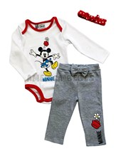 Conjunto set body, pantalon y vincha. Minnie. Colores surtidos. Disney Licencia.