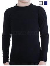 Camiseta termica microfibra niños M/L. Elastizada. Colores: Negro-Blanco-Azul. Narocca.