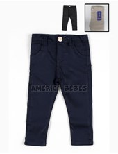 Pantalon bebe saten corte chino. Colores negro-beige-azul. Popeye.
