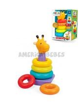 Jirafa colorida Estimula los sentidos,  la creatividad y la coordinación motriz de los niños. Medidas: 13x26x18cm. Lionels.