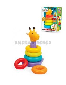 Jirafa colorida Estimula los sentidos,la creatividad y la coordinación motriz de los niños. Medidas: 13x26x18cm. Lionels.