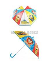 Paraguas infantil Paw Patrol. Pvc impermeable. Cuerpo y varillas de aluminio. Puntas de protección. Traba de seguridad. Apertura manual. Disney Licencia. Wabro.