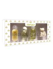 Estuche Miniautura . 0 a 1. Colonia 35ml,  Shampoo 35ml,  Crema de enjuague 35ml,  Jabon Oso x40gr. Petit Enfant.