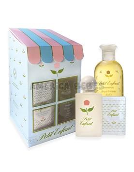 Estuche casita 0 a 1. Shampoo x240ml,Colonia x60ml,Jabon de tocador x100gr. Petit Enfant.
