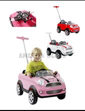 Andador 2 en 1 con barral ajustable.  MINI COOPER PUSH CAR. Sonidos.Colores surtidos. Kiddy.