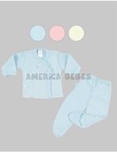 Conjunto Batita M/L y Medio Osito. Linea Suave. Liso Colores surtidos. Gamise.