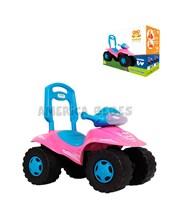 Cuatriciclo ATV  ROSA andarín y caminador construido en plástico resistente. + 12 meses. Kuma Kids.