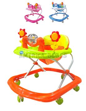 Andador con burbuja. 8 ruedas. Colores surtidos. Priori.