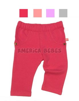 Calza legging beba. Rustico con lycra. Colores surtidos. Baby Skin.