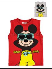 Musculosa bebe Mickey anteojos. Colores surtidos. Disney Licencia.