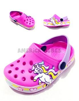 Crocs ultra liviano niña banda Unicornio. Disney Licencia.