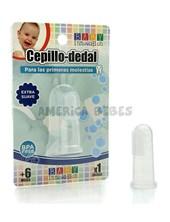 Cepillo dedal. Ideal para la primera dentición del bebé. Alivia los dolores de encía. Extra suave. +6M. Baby Innovation.