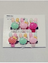 Portachupetes PACK X 6U Conejos. Colores surtidos. Mac Fly