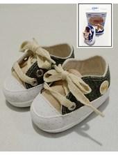 Zapatilla bebes con cordon combinada. Colores surtidos. MT.