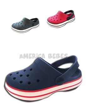 Crocs ultra liviano niños con banda Tipo Crocs. Colores surtidos.