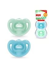 Chupetes x2  Sensitive. Nene. 0 a 6 meses.  100% de silicona extra suave y flexible. Nuk.