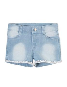 Short nena jean con puntilla. Gepetto.