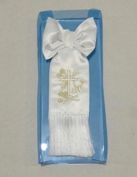 Brazalete bordado cruz comunion.
