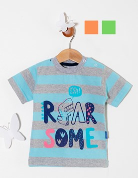 Remera bebe M/C . Rayada. Colores surtidos. Premium Only Baby.
