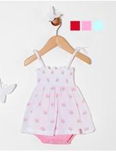 Body vestido beba jersey estampado frutillas. Colores surtidos. Premium Only Baby.