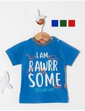 Remera bebe M/C Dinos. Colores surtidos. Premium Only Baby.