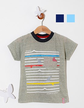 Remera nene M/C jersey. Shark. Colores surtidos. Premium Only Baby.