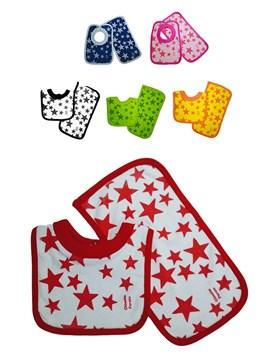 Babero + Babita Towel. Colores surtidos. Chincho Poroto.