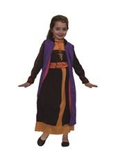 Disfraz nena Frozen 2 Ana con c/cap negra. Disney Licencia.