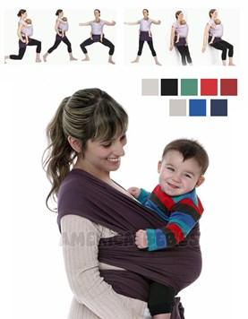 Fular confeccionado en 5 metros de tela 100% algodón. Apto para niños de 0 a 2 años. Colores surtidos. Wawita.