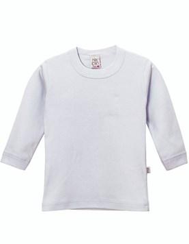 Camiseta niño Liso Blanca Interlock. Naranjo.