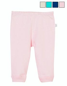 Pantalon largo bb c/puño INTERLOCK LISO . Colores surtidos. Naranjo.
