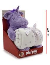 Manta con unicornio en caja 30cm. Dos colores. Phi Phi Toys