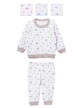 Pijama Bebe 2 Piezas ESTAMPADO. Colores surtidos. Naranjo.