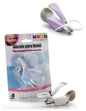 Alicate para uñas de bebé con lupa para mayor precisión y seguridad. Colores surtidos. Baby Innovation.