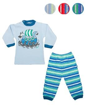 Pijama bebé M/L con estampado. Colores surtidos. Gamisé.