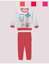Pijama nena M/L.  Estampado Colores surtidos. Naranjo.