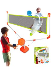 Juego de Tennis/Badminton con red,  pluma,  pelotita y  2 raquetas. E-Learning