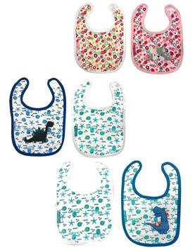 PACK Baberos grande X 2 UNIDADES Jersey towel Estampado. Colores surtidos. Priori.