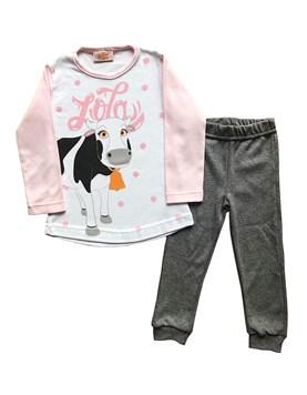 Pijama en conjunto INTERLOCK estampado La vaca Lola. Disney