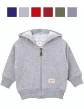 Campera c/capucha y bolsillo frisa. Colores surtidos. Naranjo.