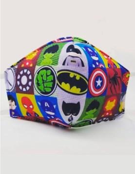 Tapa bocas barbijo infantil. Superheroes. Disney