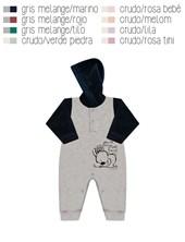 Enterito en plush combinado a dos colores con estampa lateral. Disponible en tonos de nena y de varo´n. Dreams